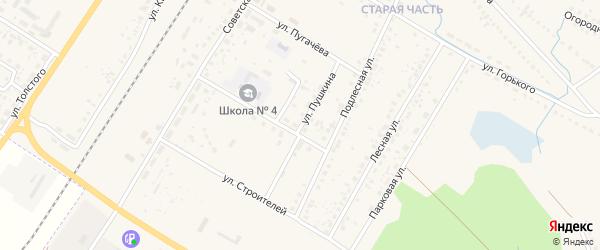 Улица Пушкина на карте поселка Приютово с номерами домов