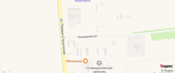 Пионерная улица на карте Агидели с номерами домов
