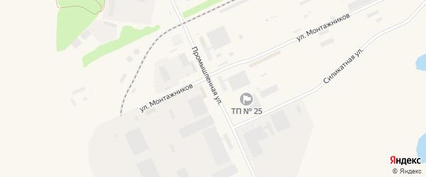 Промышленная улица на карте Агидели с номерами домов