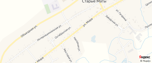 Улица Мира на карте села Старые Маты с номерами домов
