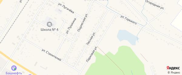 Лесная улица на карте поселка Приютово с номерами домов