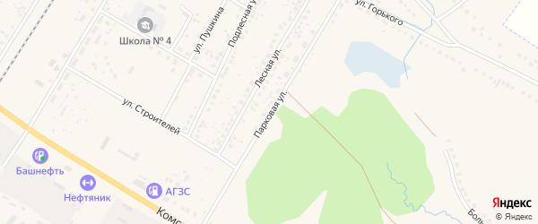 Парковая улица на карте поселка Приютово с номерами домов