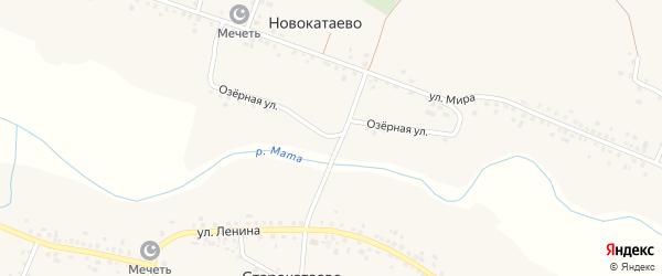 Озерная улица на карте села Новокатаево с номерами домов