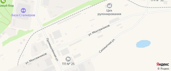 Улица Монтажников на карте Агидели с номерами домов