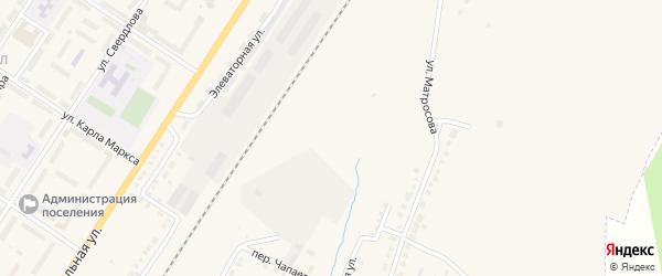 Улица Нефтебаза на карте поселка Приютово с номерами домов