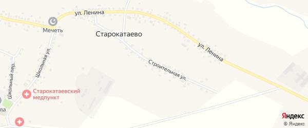 Строительная улица на карте села Старокатаево с номерами домов
