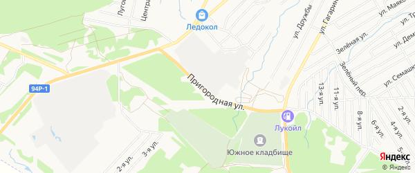 Карта территории ГК 1 города Воткинска в Удмуртии с улицами и номерами домов