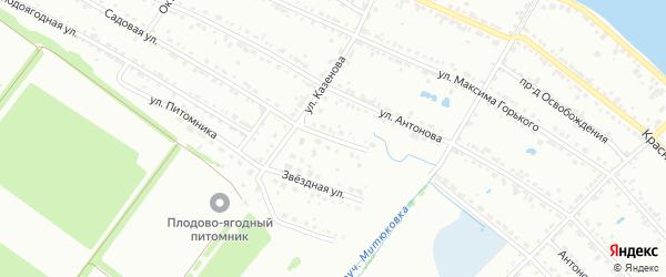 Малиновая улица на карте Воткинска с номерами домов