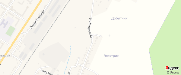 Улица Матросова на карте поселка Приютово с номерами домов