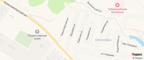Буровая улица на карте поселка Приютово с номерами домов