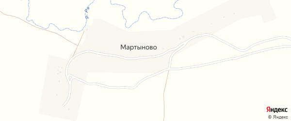 Речная улица на карте деревни Мартыново с номерами домов
