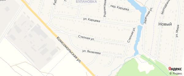 Степная улица на карте поселка Приютово с номерами домов