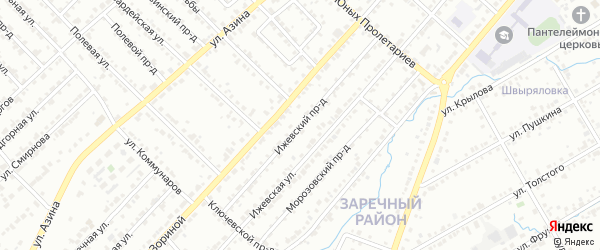 Ижевский проезд на карте Воткинска с номерами домов