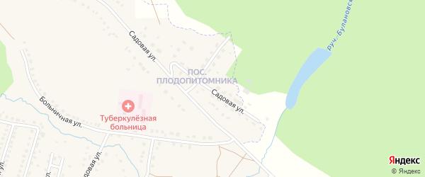 Садовая улица на карте поселка Приютово с номерами домов