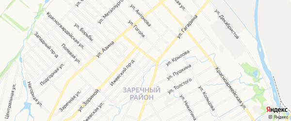 Карта территории ГКК ул.1 Мая-2(Ремстрой) города Воткинска в Удмуртии с улицами и номерами домов