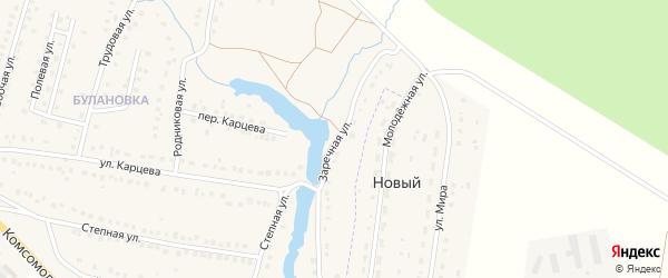 Заречная улица на карте поселка Приютово с номерами домов