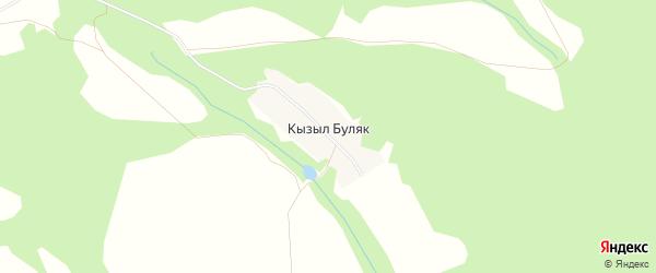 Карта деревни Кызыла Буляка в Башкортостане с улицами и номерами домов