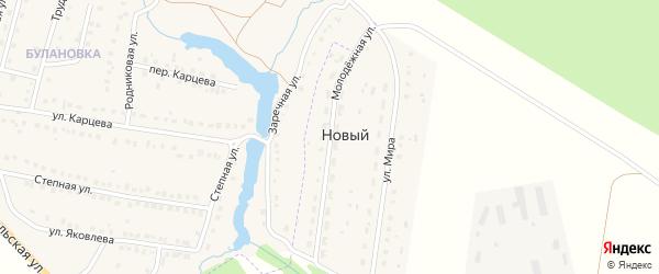 Молодежная улица на карте села Нового с номерами домов