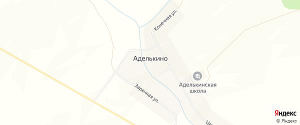 Карта села Аделькино в Башкортостане с улицами и номерами домов