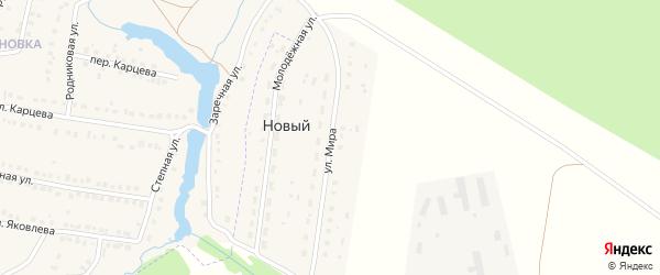 Улица Мира на карте села Нового с номерами домов