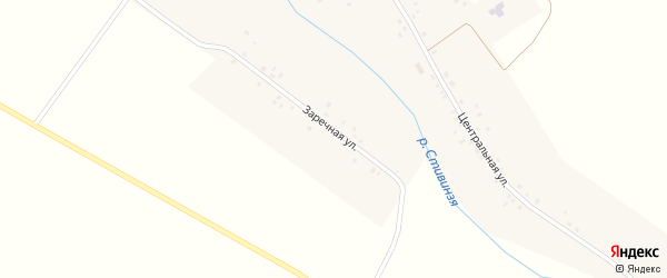 Заречная улица на карте села Аделькино с номерами домов