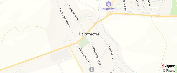 Карта села Наратасты в Башкортостане с улицами и номерами домов