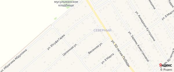 Целинная улица на карте села Шарана с номерами домов