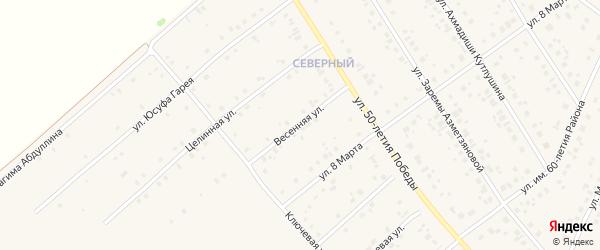 Весенняя улица на карте села Шарана с номерами домов