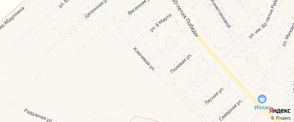 Ключевая улица на карте села Шарана с номерами домов
