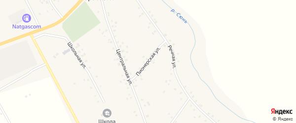 Пионерская улица на карте села Наратасты с номерами домов