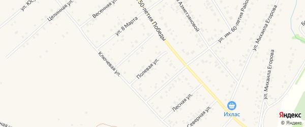 Полевая улица на карте села Шарана с номерами домов