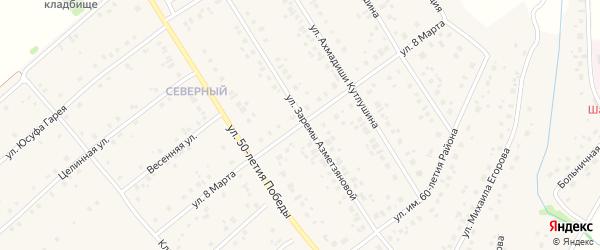 Улица 8 Марта на карте села Шарана с номерами домов