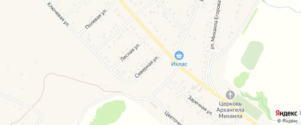 Северная улица на карте села Шарана с номерами домов