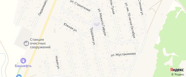 Трудовая улица на карте села Шарана с номерами домов
