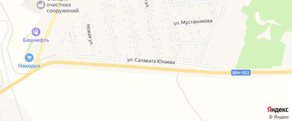 Улица Салавата Юлаева на карте села Шарана с номерами домов