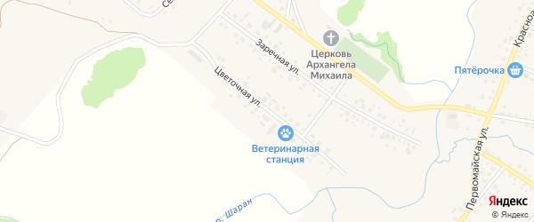 Цветочная улица на карте села Шарана с номерами домов