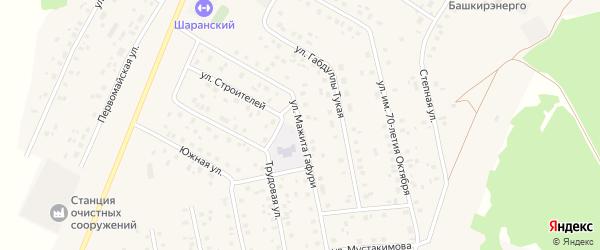 Улица Мажита Гафури на карте села Шарана с номерами домов
