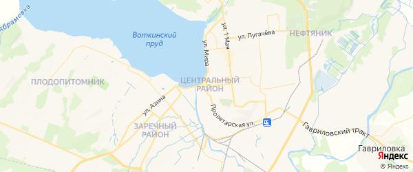 Карта Воткинска с районами, улицами и номерами домов