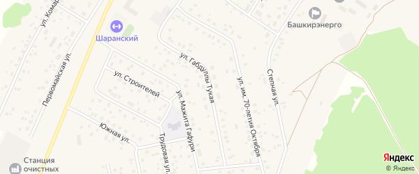 Габдуллы Тукая улица на карте села Шарана с номерами домов