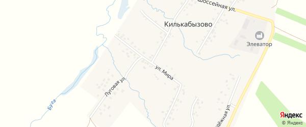 Улица Мира на карте села Килькабызово с номерами домов