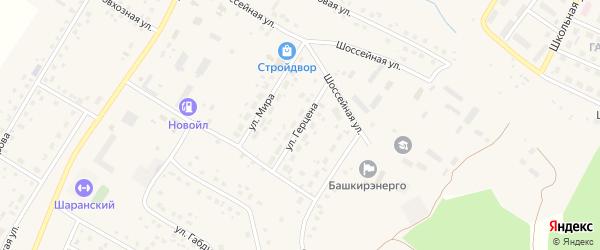 Улица Герцена на карте села Шарана с номерами домов