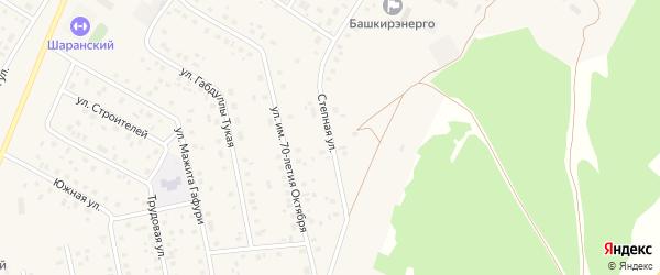 Степная улица на карте села Шарана с номерами домов