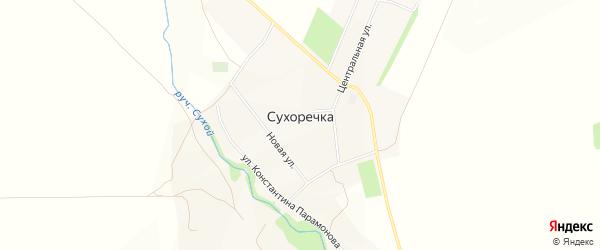 Карта села Сухоречки в Башкортостане с улицами и номерами домов