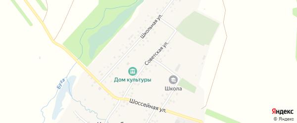 Советская улица на карте села Килькабызово с номерами домов