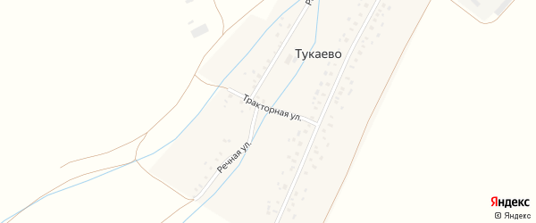 Тракторная улица на карте села Тукаево с номерами домов