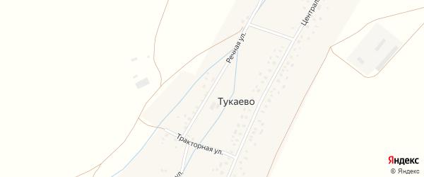 Речная улица на карте села Тукаево с номерами домов