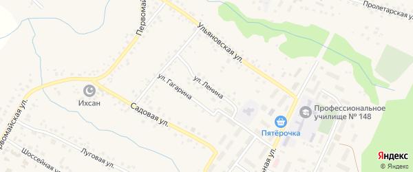 Улица Ленина на карте села Шарана с номерами домов