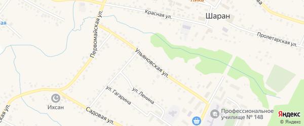 Ульяновская улица на карте села Шарана с номерами домов