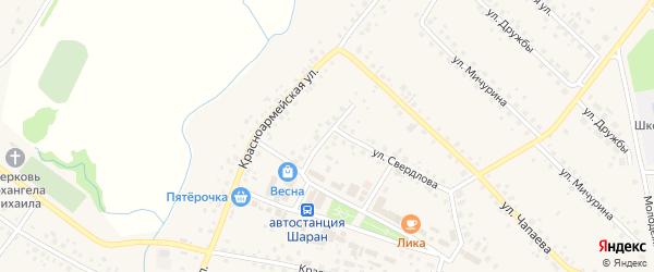 Торговая улица на карте села Шарана с номерами домов