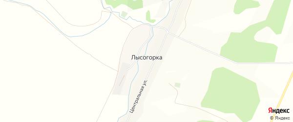Карта деревни Лысогорки в Башкортостане с улицами и номерами домов